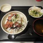 元気回復堂 - 焼鳥丼 ¥500-
