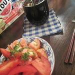 古本とビール アダノンキ - 平八郎(中)と冷しトマト