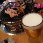 あみ焼 元祖 しちりん - ビールが旨い