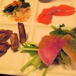 29844967 - フォアグラに野菜の煮物、サーモンにサラダ