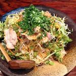 伝丸 - ピリ辛豚しゃぶの冷やし中華830円