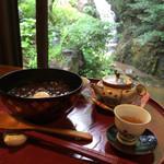 滝カフェ 器楽々 - ぜんざい ¥650