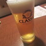 酒肴や 伸 - 生ビール