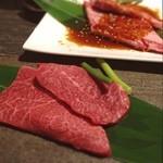 まる良炭火焼肉 - 松阪牛黄金網焼き