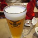 中華料理 大福園 - お約束生ビール! 2014年8月