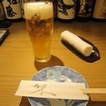 うじいえ - 生ビール:「ヱビス」