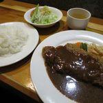 洋食屋ゆうき - サービスランチb(ビフカツ150g)1000円