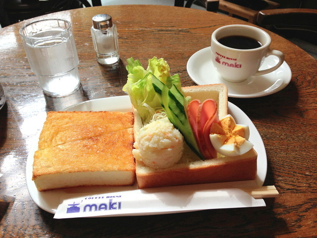 コーヒーハウス マキ - モーニングセット¥650