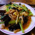 29868206 - 肉とキクラゲの玉子炒め(中華定食)