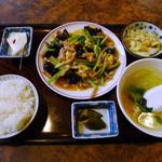 29868208 - 肉とキクラゲの玉子炒め定食