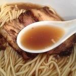 歩いていこう - 醤油らーめん(730円)スープ