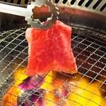 炭火焼肉 ごえ門 - 姫焼しゃぶは、さっと炙るだけでOK!
