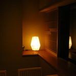すき焼 藤尾 -  お部屋の電灯です。