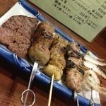 すずめ - 料理写真:焼き鳥盛り合わせ(2014.8.13)