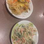 山崎 - ナムルと大根サラダ