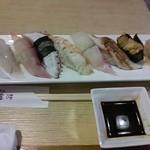 第二金波 - 上寿司、大きいので半分にカットしてもらいました