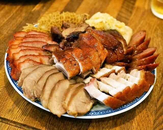 金陵 - 2014.8 肉の盛り合わせ(小3,200円)什錦拼盤