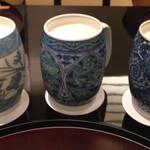 日本料理 太月 - 生ビール       陶器のジョッキが素敵