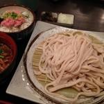 居酒屋 寿毛半 - 武蔵野うどんとネギトロ丼ランチセット@新橋 寿毛半