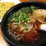らぅめん一角 - 一角セット(醤油ラーメン・チャーハン)880円