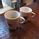 うおがし銘茶 銀座店 茶・銀座 - お帰り前の煎茶サービス