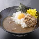 三田牛すじ 和風カレー しーくす - 料理写真:月見納豆カレー