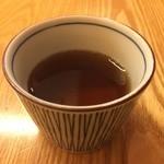 京ノ茶寮 伊右衛門 - お口直しにと温かいお茶のサービス