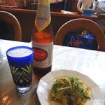 獨壹荘 - サイゴンビールとお通しの春雨サラダ