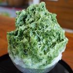 茶の木村園 - 特製とろりん濃厚抹茶(500円)+練乳(50円)
