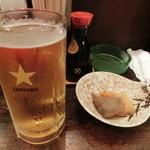 石松 - 生ビールとお通し