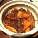 29939364 - ランチメニューの牛スネとアキレス土鍋煮(750円)