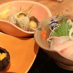 海鮮茶屋えびしま - お造り・焼きウニ・サザエ壺焼き