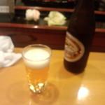 寿し富 - 瓶ビール600円(2014.08.06)