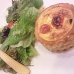 Bureikutaimu - キッシュランチ 季節のキッシュ(夏野菜のキッシュ)