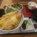 たらいうどん 山のせ - 昼の天とじ丼膳1382円