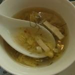 城北飯店 - 2014年4月 陳麻婆豆腐ランチのスープ