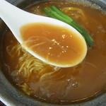 城北飯店 - 2014年4月 とろみのあるスープはご飯にかけても美味しいよ!