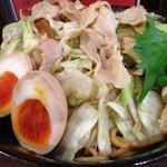 麺屋わっしょい - 男のまぜ麺+野菜トッピング