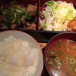 酉文 - 炭火焼き定食 800円