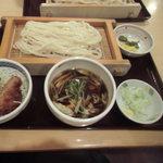 うどん竜屋 - 料理写真:肉汁うどん&ミニソースかつ丼セット