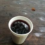 長尾茶屋 - 紙コップで提供されるがホットワインは絶品!!。下界のラウンジだったらウン千円か?。