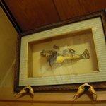 ふぐ 山ほ - 個室に飾ってある剥製のフグ。初代作成とか