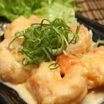 隠れ家キッチン  - 料理写真:人気ナンバー1!プリップリ海老のマヨソース和え  プリッと弾ける食感ととろ~りソースが絶妙です。是非、ご賞味ください!!