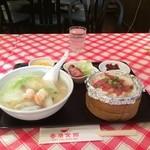 香港食館 - 海鮮汁ソバセットにしました