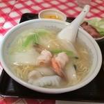 香港食館 - 海鮮汁ソバ、本格的です、えび、いか、帆立の貝柱