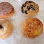 Boulangerie Galopin - サツマイモアンパン、栗アンパン、豆パン、クリームパン
