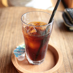 水辺のカフェ 三宅商店 酒津 - アイスコーヒー フレンチロースト (450円) '14 7月下旬