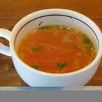 戎屋 - ランチのスープです。