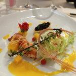 レストラン・クボウ - オマール海老海老のサラダ.アップルマンゴーを添えて
