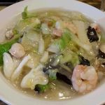 万豚記 - 海老海鮮かけご飯